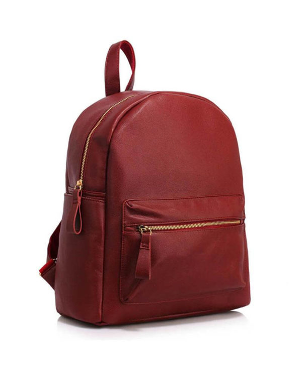 AG00186C burgundy-backpack shoulder bag _1