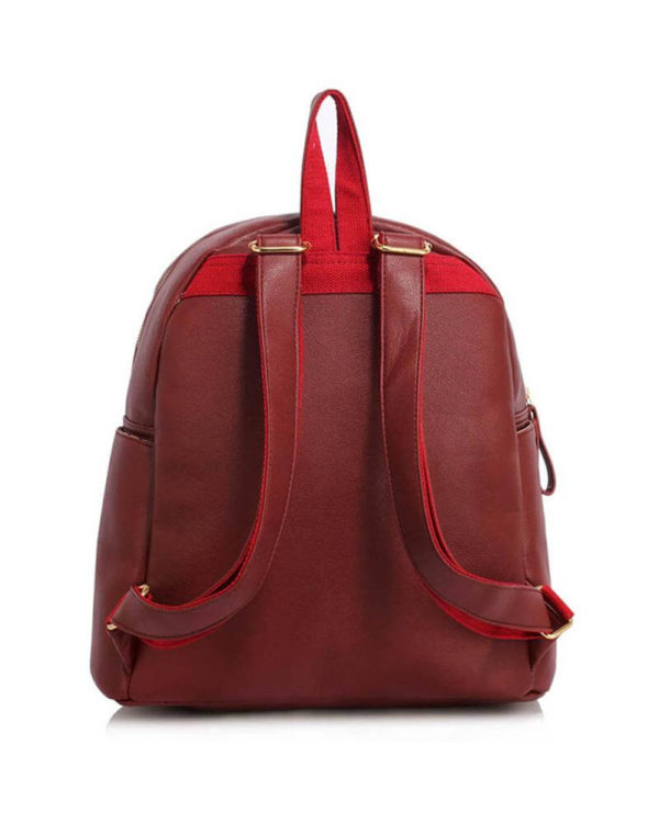AG00186C burgundy-backpack shoulder bag_2_-1