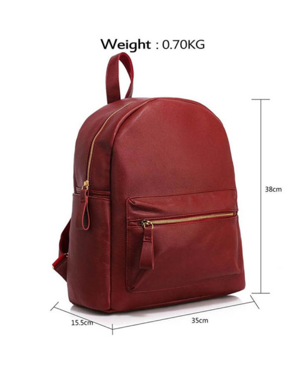 AG00186C burgundy-backpack shoulder bag_4_-1