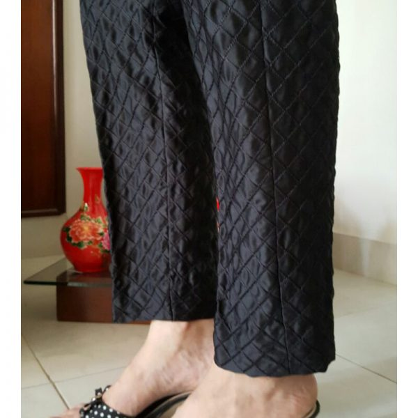 BJT02 Embroidered Check Trousers for Ladies