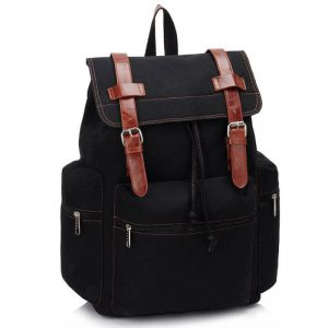 Black-Backpack-College-School-Bag-LS00443