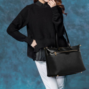 Black grab shoulder handbag