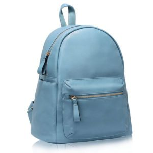 blue leather rucksack school bags