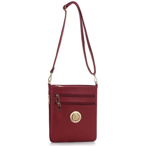 Burdundy Cross Body Shoulder Bag