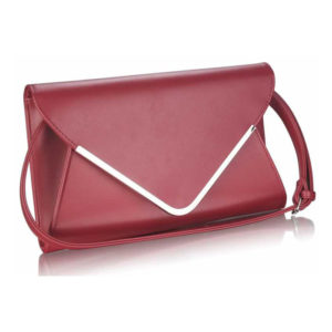 Burgundy Large Flap Clutch purse