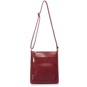 Burgundy Shoulder Cross Body Bag