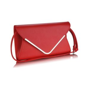 Red Large Flap Clutch purse