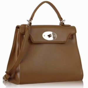 Brown Classic Tote Shoulder Handbag