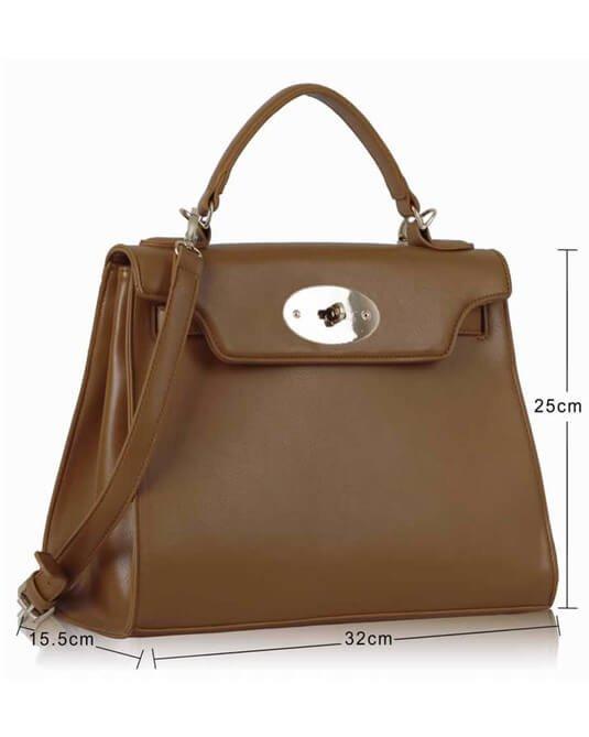 Brown Classic Tote Shoulder Handbag
