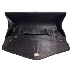 Diamante Design Clutch Bag Black