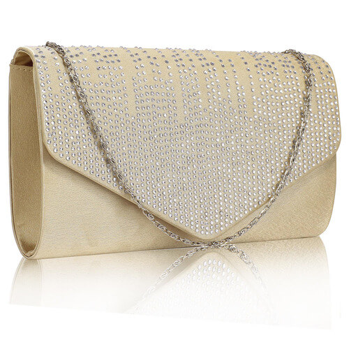 Nude Flap Over Clutch Bag