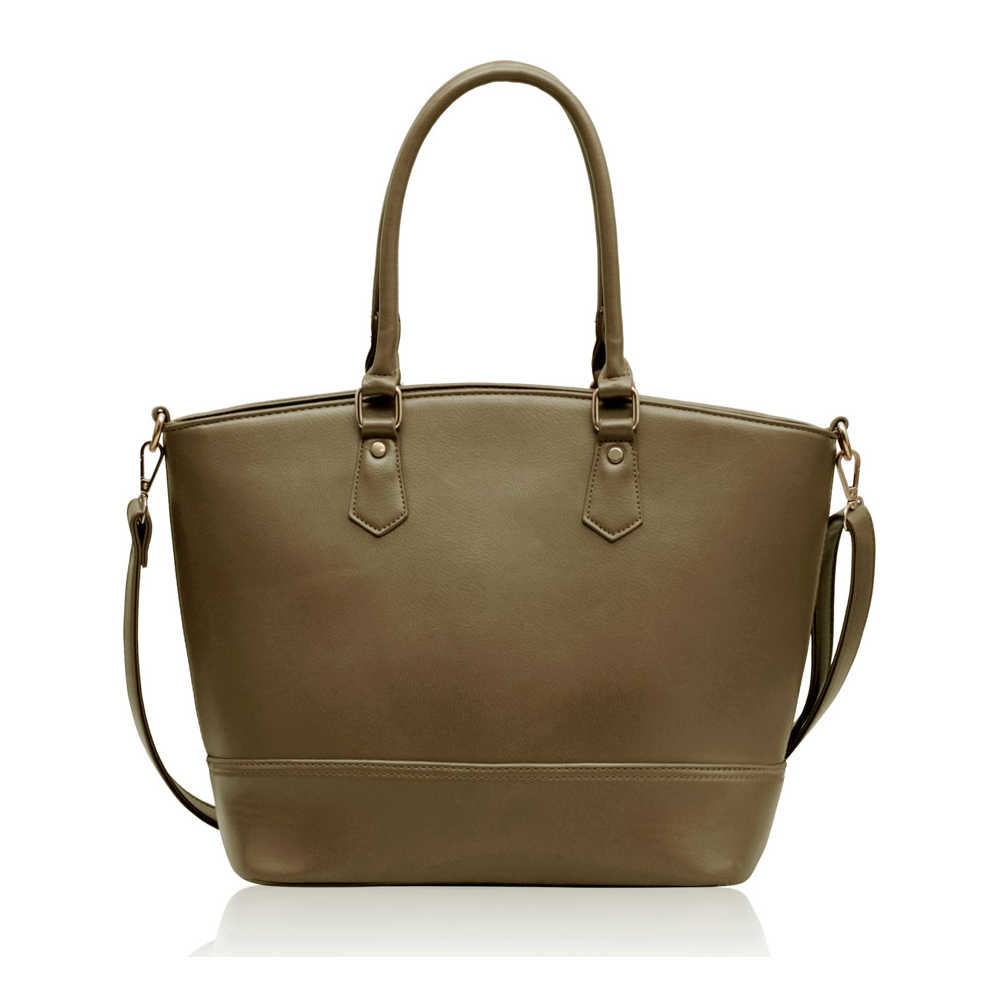 Nude tote shoulder bag