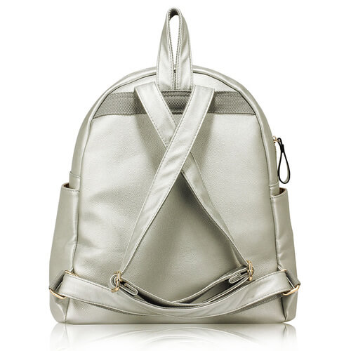 Silver Fashion Backpack