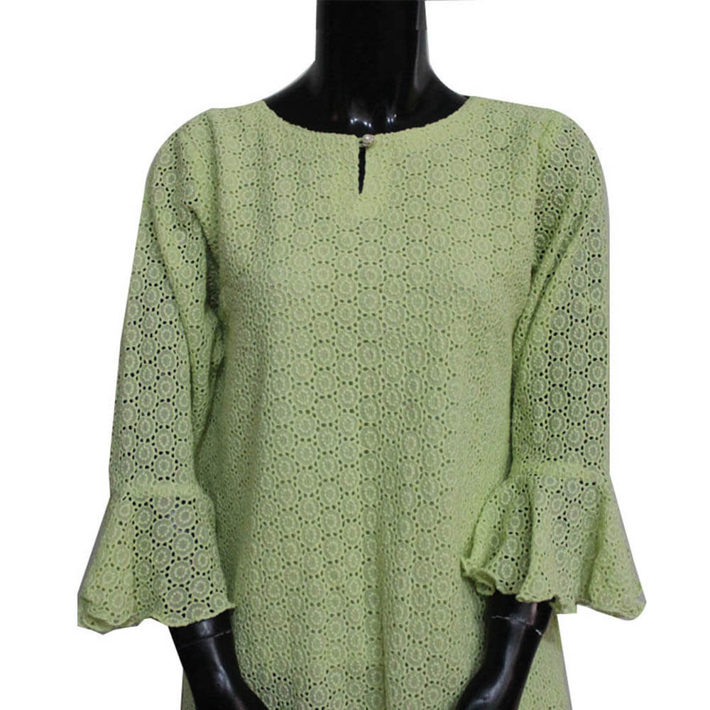 green chikan top