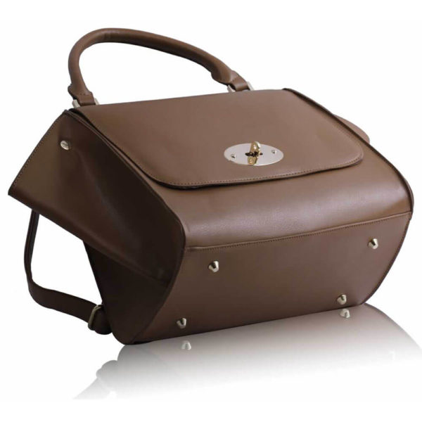 tan Flap Satchel Handbag LS0068A-2