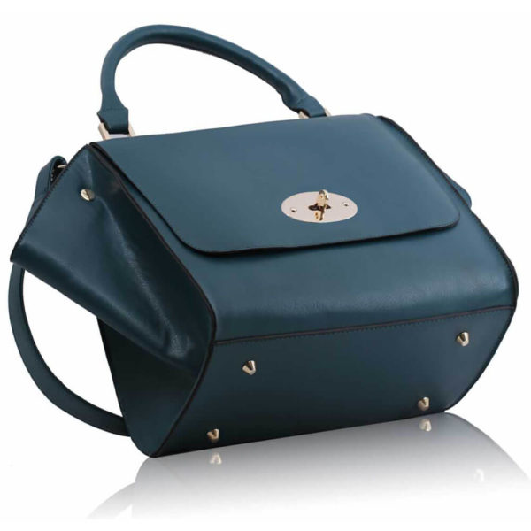 teal Flap Satchel Handbag LS0068A -2