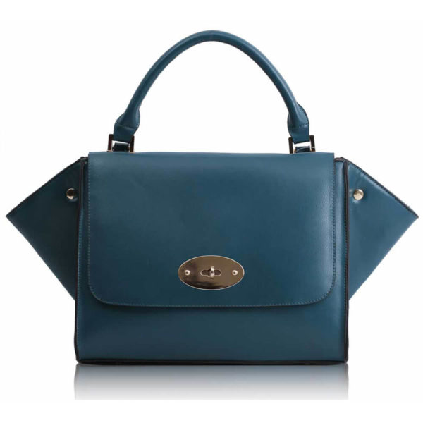 teal Flap Satchel Handbag LS0068A