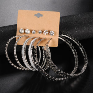 pakistani jewellery earrings - 6 pair earring set