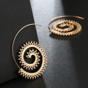 hoop earring gold - artificial earrings online shopping