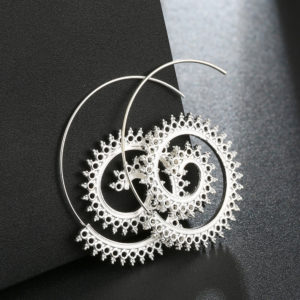 silver hoop earrings online