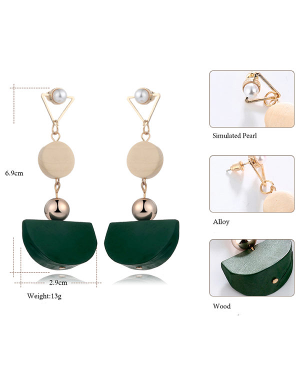 wood drop earring – order earrings for mehndi online
