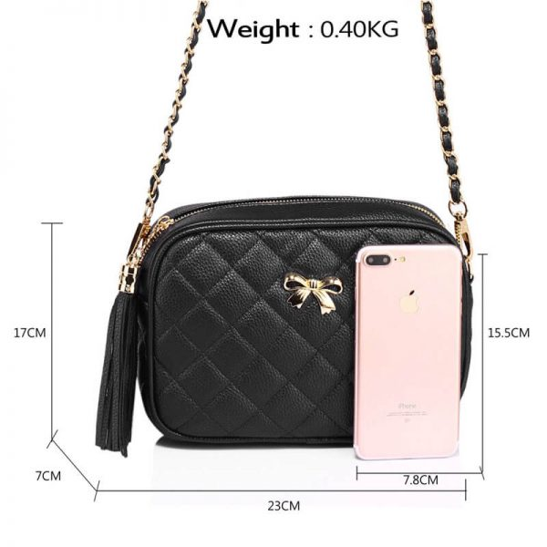 AG00540 – Black Cross Body Shoulder Bag_2_