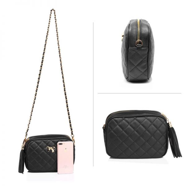 AG00540 – Black Cross Body Shoulder Bag_3_