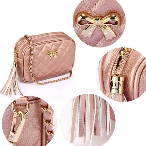 AG00540 – Champagne Cross Body Shoulder Bag_4_