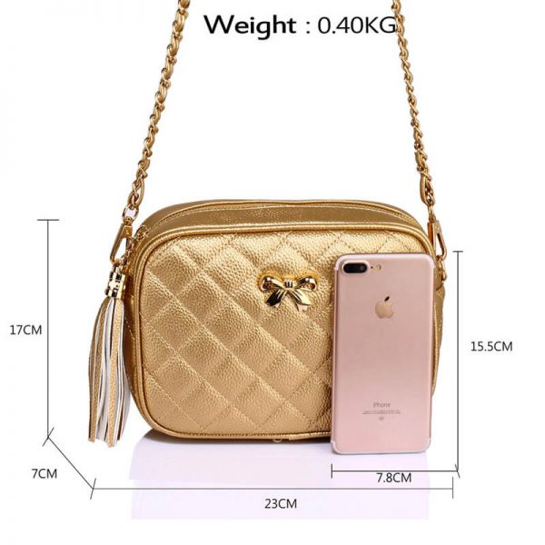 AG00540 – Gold Cross Body Shoulder Bag_2_