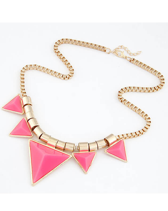 buy triangle pink necklace in pakistan
