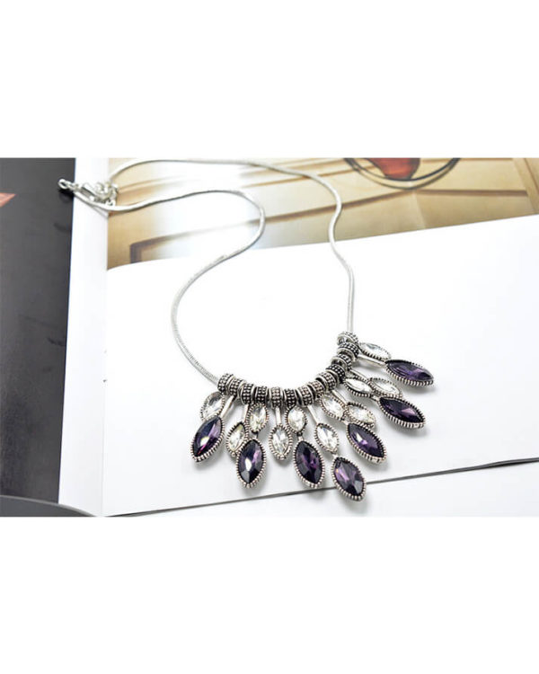 diamante purple necklaces price in pakistan
