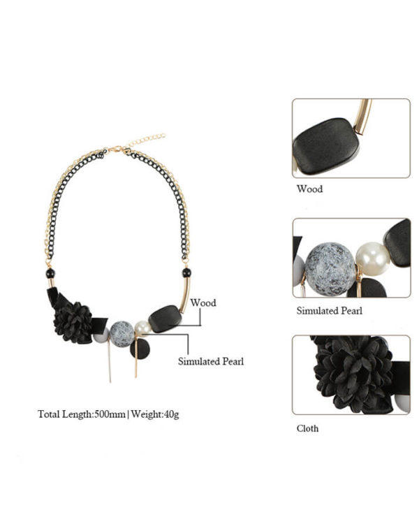 buy necklace online – trendy necklace black