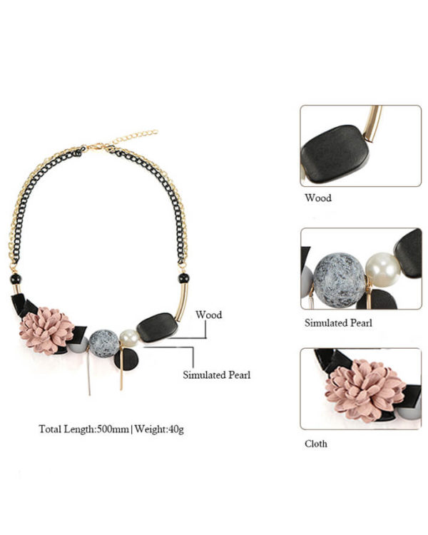 buy online necklace in pakistan – trendy necklace pink