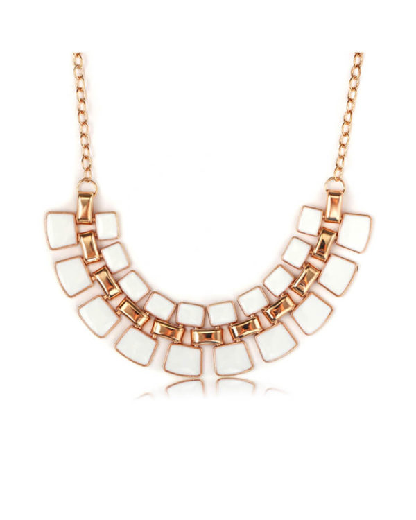 white trendy necklace set online shopping