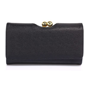 black kisslock womens clutch wallets