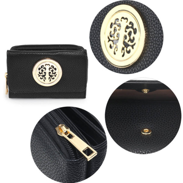 metal decoration black women wallets online in pakistan