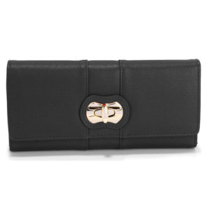 black twist lock womens clutch wallets online shopping