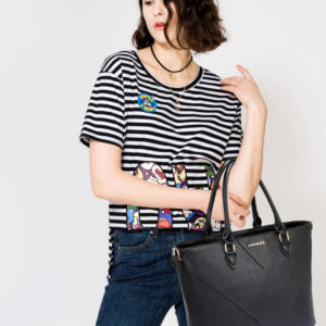 anna grace black tote bags shopping online in pakistan