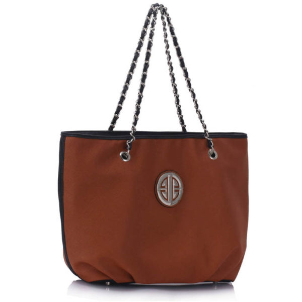 chain strap brown leather shoulder bags online shopping
