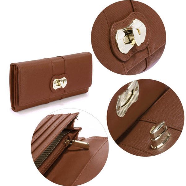 Brown Twist Lock PurseWallet AGP1055A-_5_
