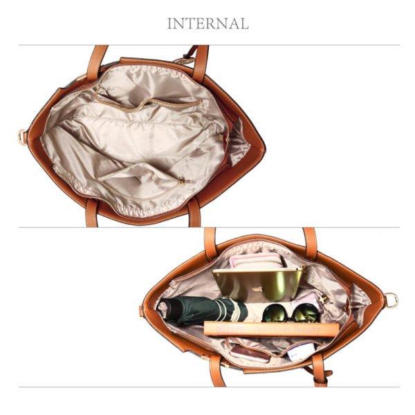 brown designer tote bag