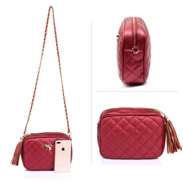 burgundy ladies cross body bag