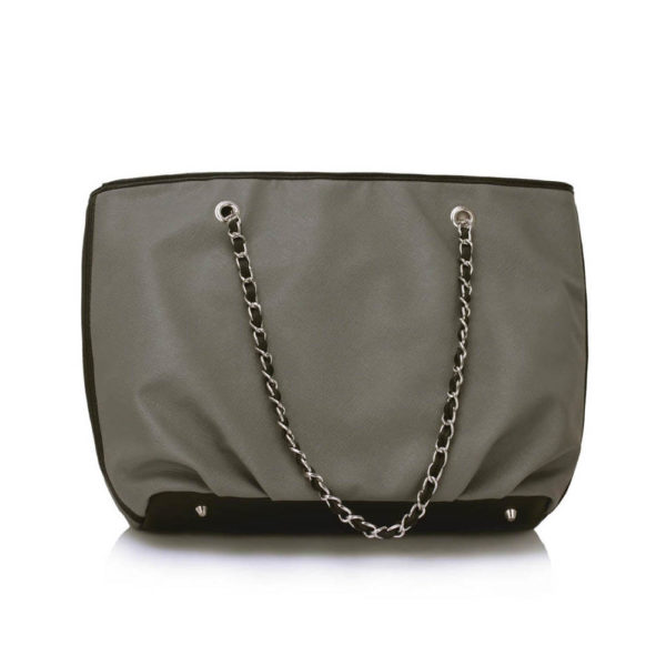 chain strap grey leather shoulder bags online shopping