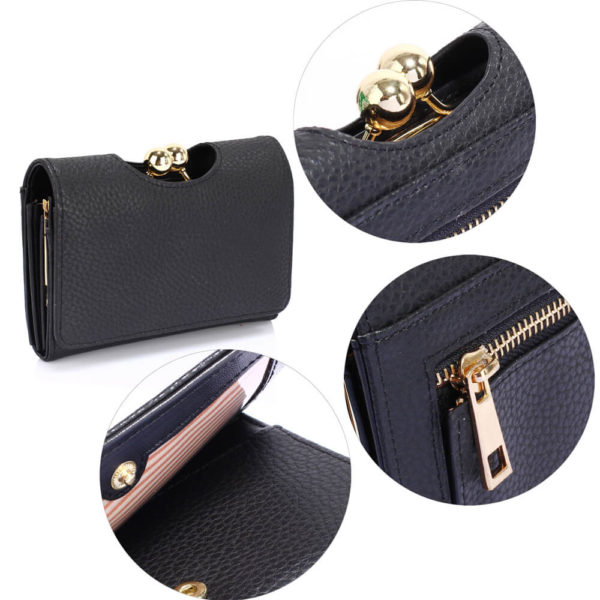 black kisslock clutch card holder wallets in pakistan