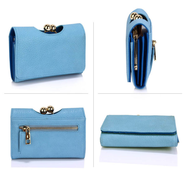 LSP1065A Blue Kisslock Clutch Wallet-_3_