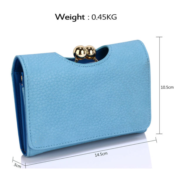 LSP1065A Blue Kisslock Clutch Wallet-__2_
