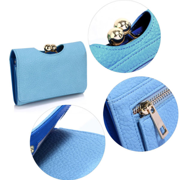 blue kisslock clutch card holder wallets in pakistan