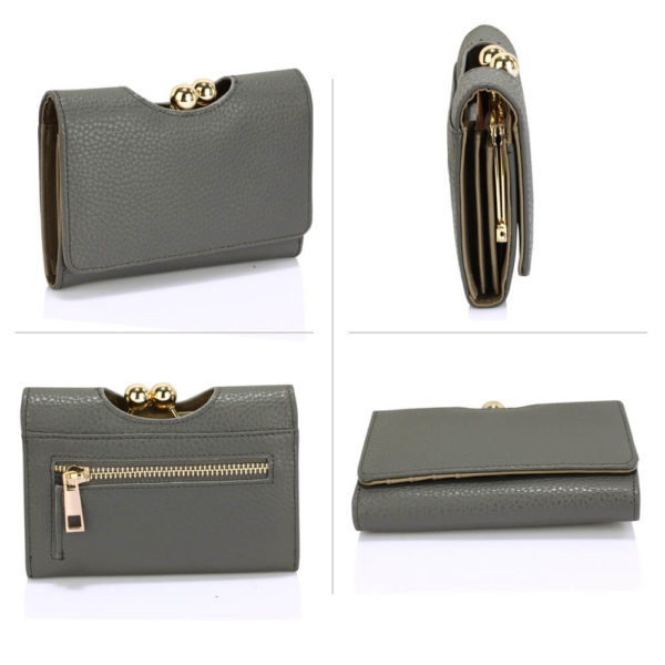 LSP1065A Grey Kisslock Clutch Wallet3_