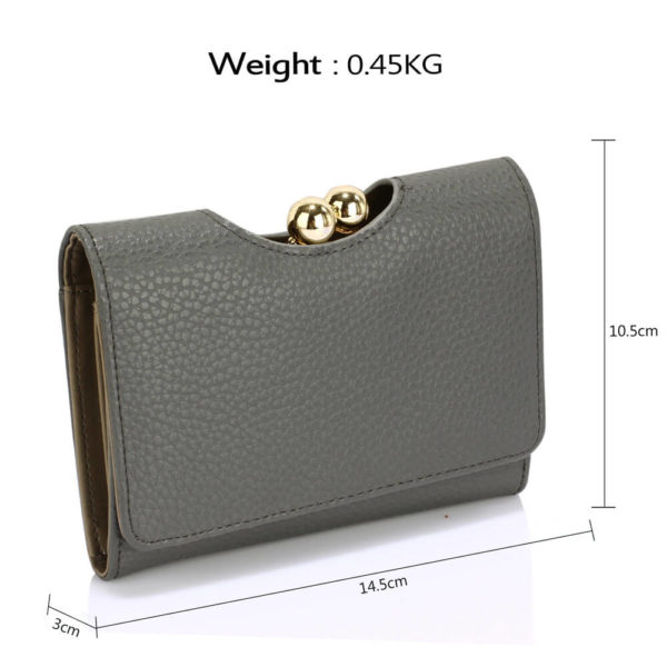 LSP1065A Grey Kisslock Clutch Wallet_2_