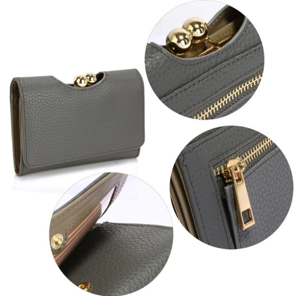 LSP1065A Grey Kisslock Clutch Wallet_5_